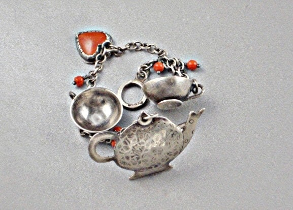 Tea for Two Silver Bracelet