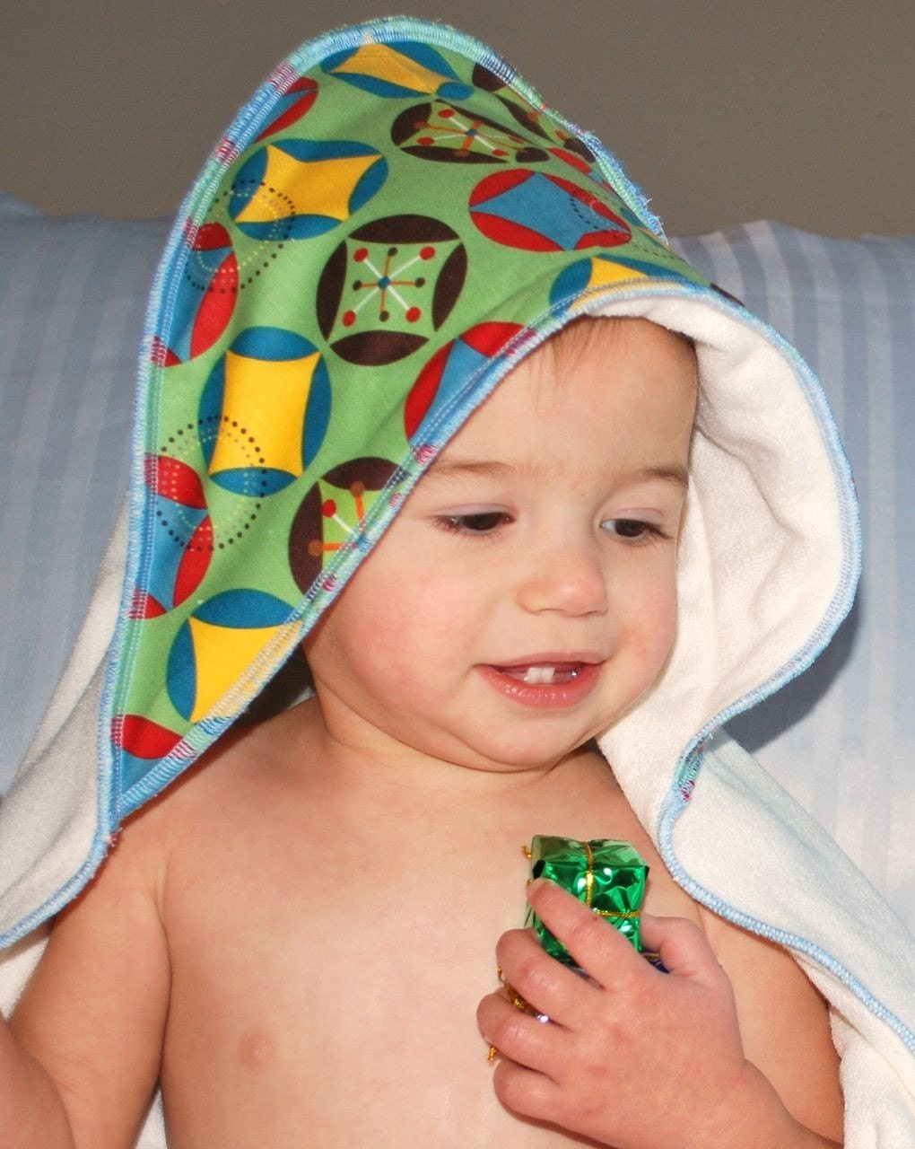 Mod Shapes Bamboo Hooded Baby Towel
