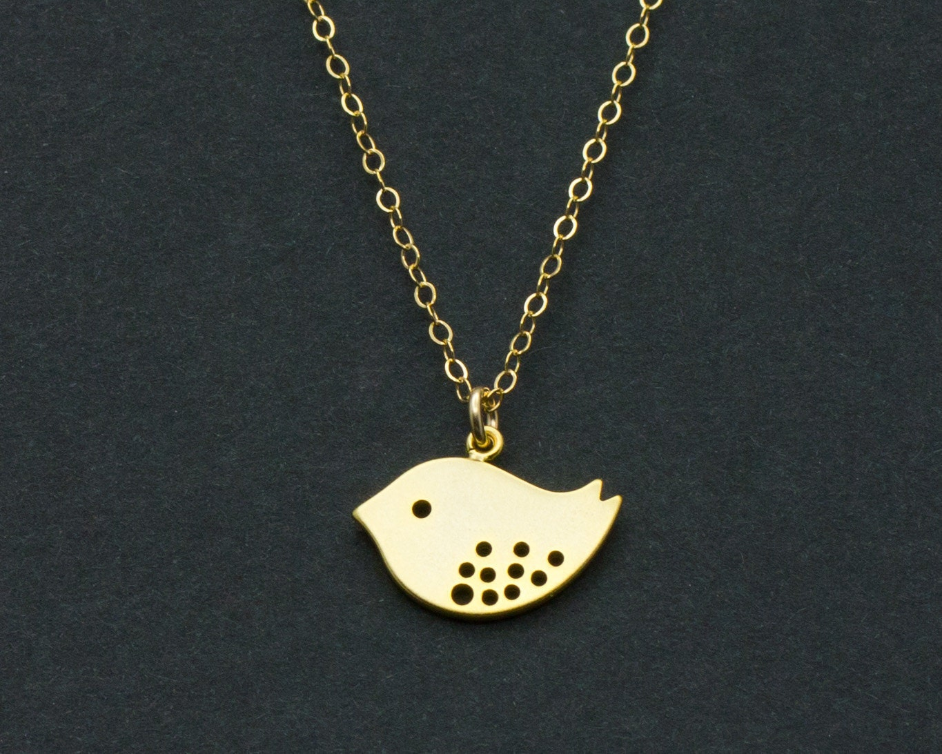 bird necklace detailed bird pendant by sweetmelodyshop
