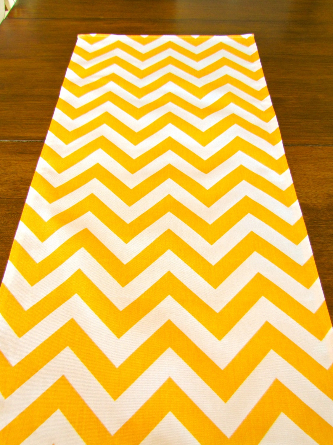 items similar to chevron table runner yellow chevron table