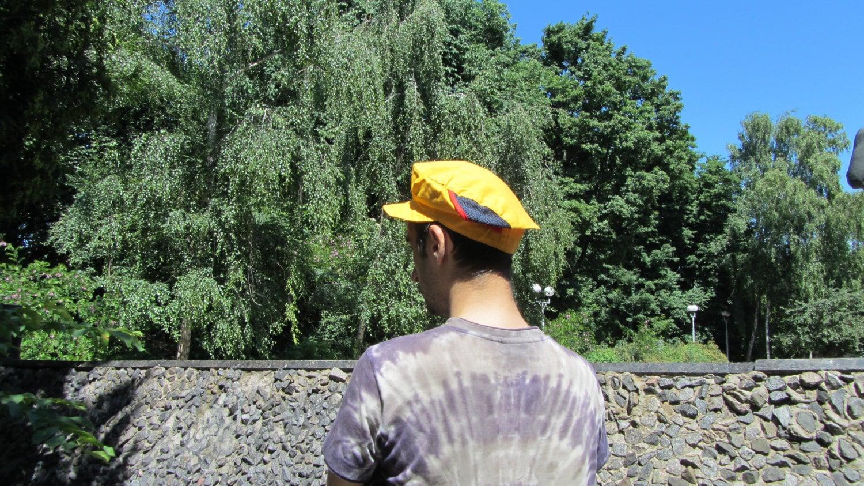 Vintage Soviet Yellow Cap, Cotton Yellow Hat 100% cotton, Vilage Ukrainian Hat,