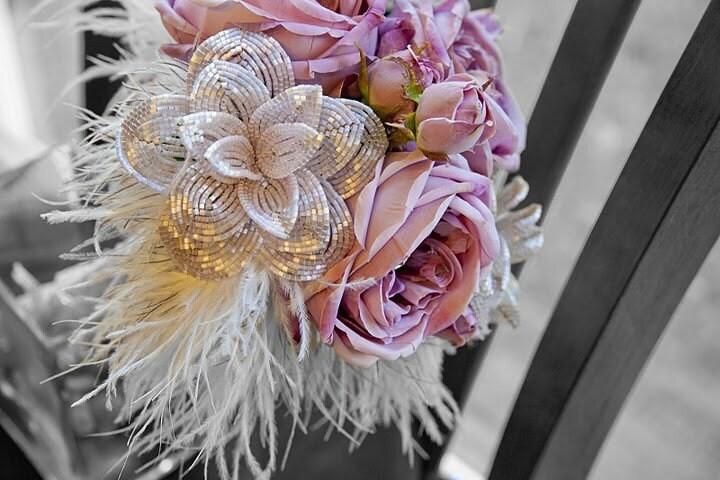 Ваш отзыв.  Темы.  Свадебный букет из атласных и бисерных цветов Fen http...