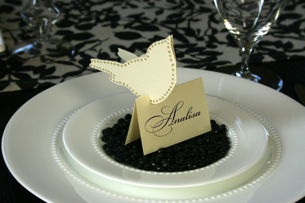 Love Bird Place Cards (tent style) - set of 40