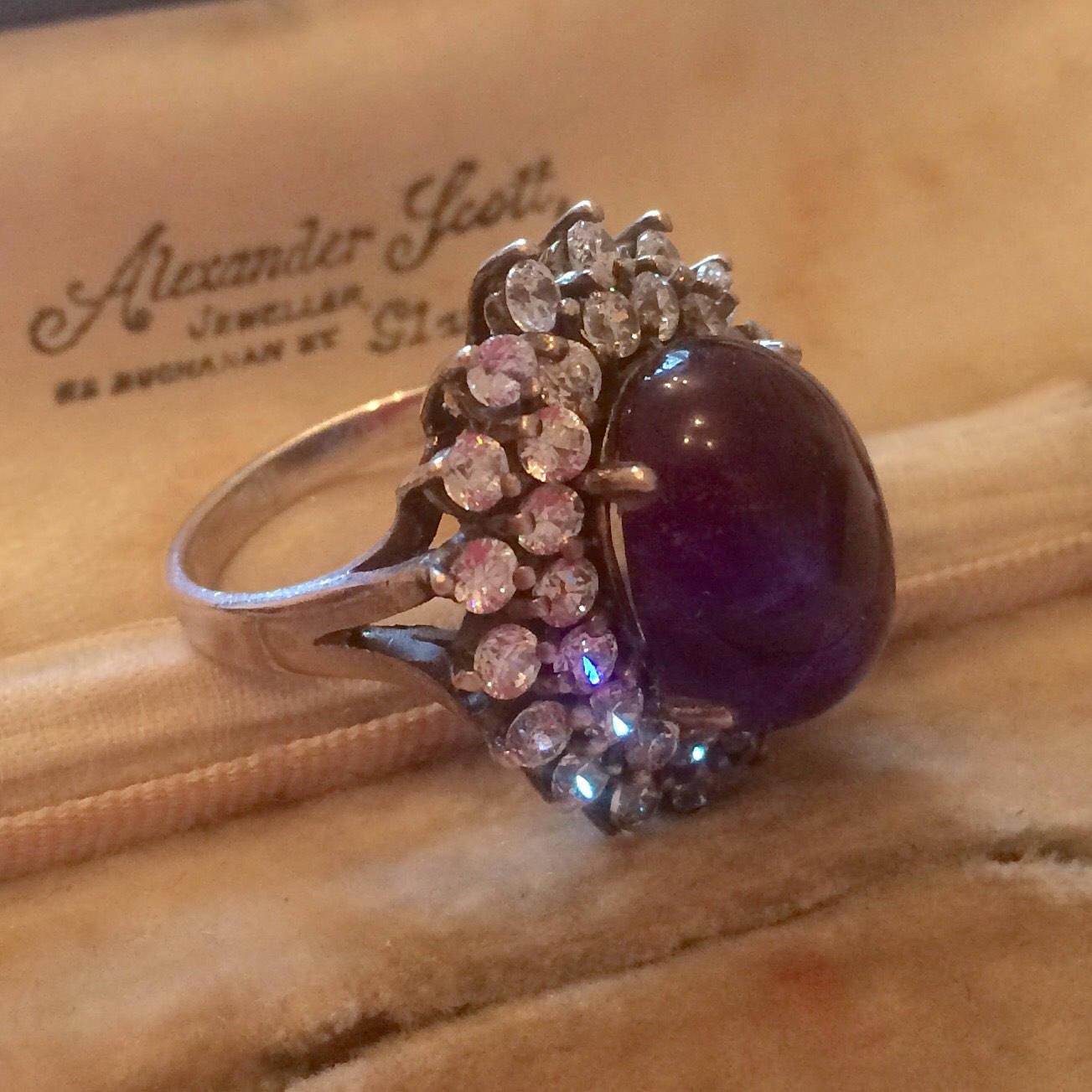 Vintage Amethyst Ring Vintage Silver Ring Vintage Ring Statement Ring Amethyst Jewellery Vintage Jewellery Vintage Jewelry Ring