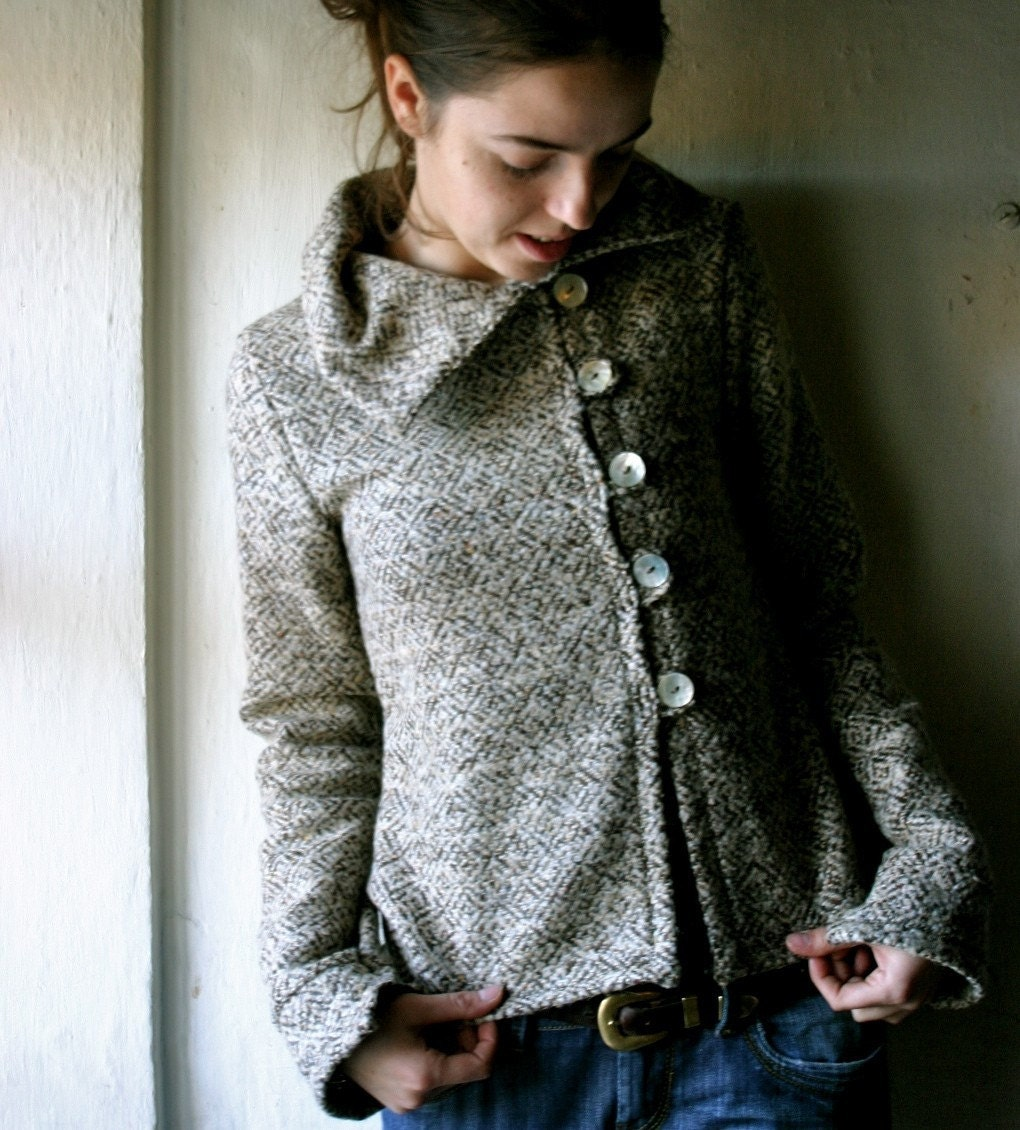 Pure Wool Oatmeal Jacket -Custom SIze