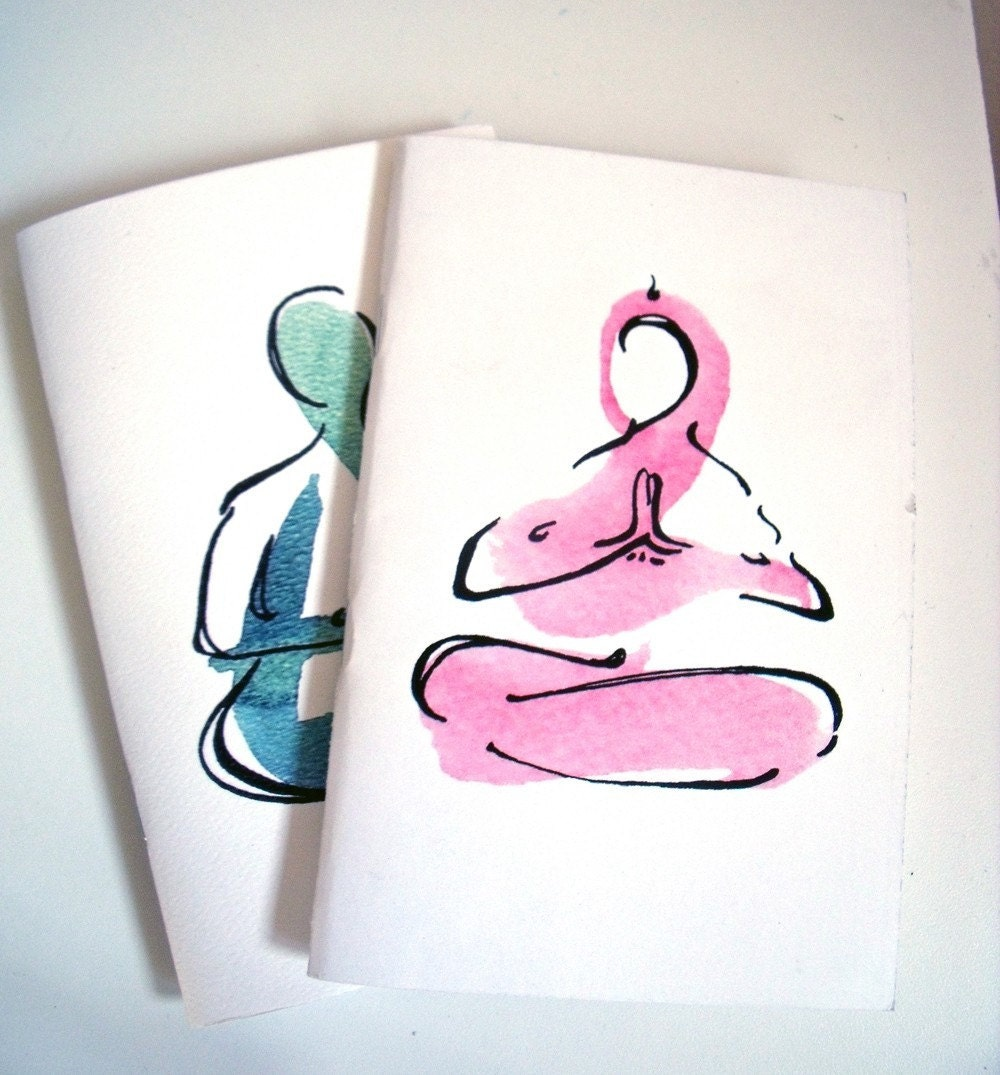 2 Small Journals - yoga art images