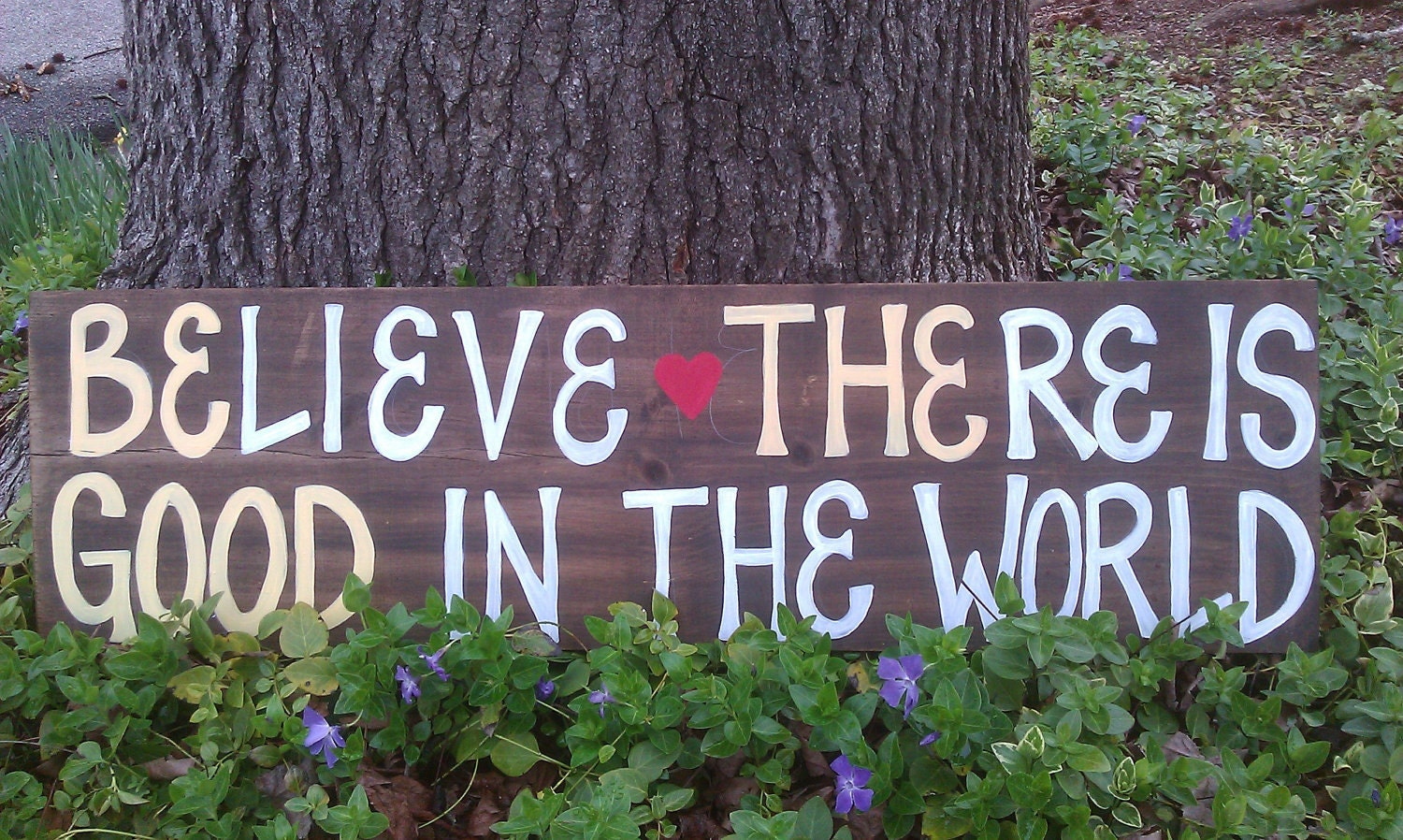 Inspirational Wooden Sign, Reclaimed Wood