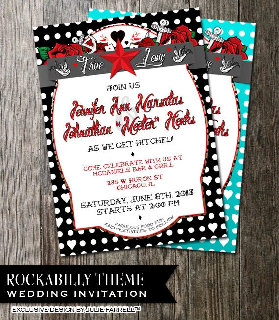 Rockabilly Wedding Invitations absolutely amazing ideas for your invitation example