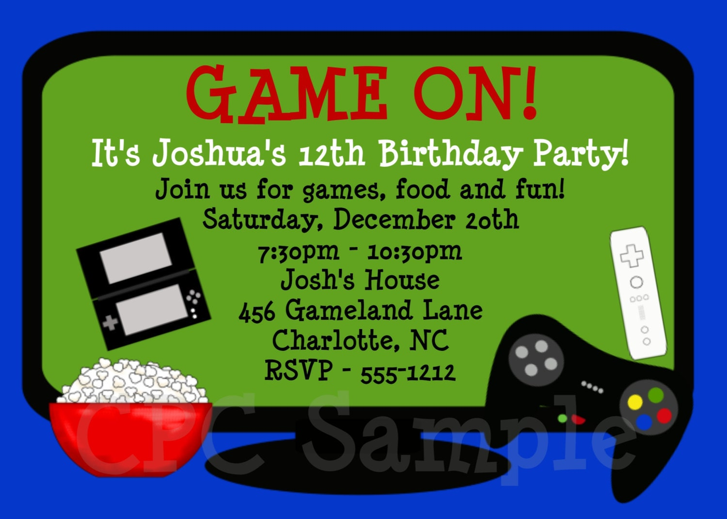 Video Game Party Invitations can inspire you to create best invitation template