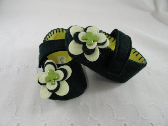 Saint Patricks Day, Baby Girl Shoes, MaryJane Baby Booties