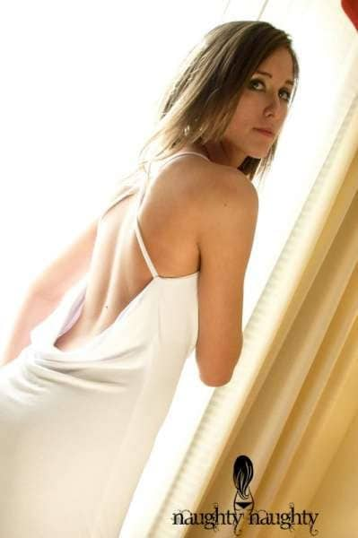 White Backless Nightgown Medium