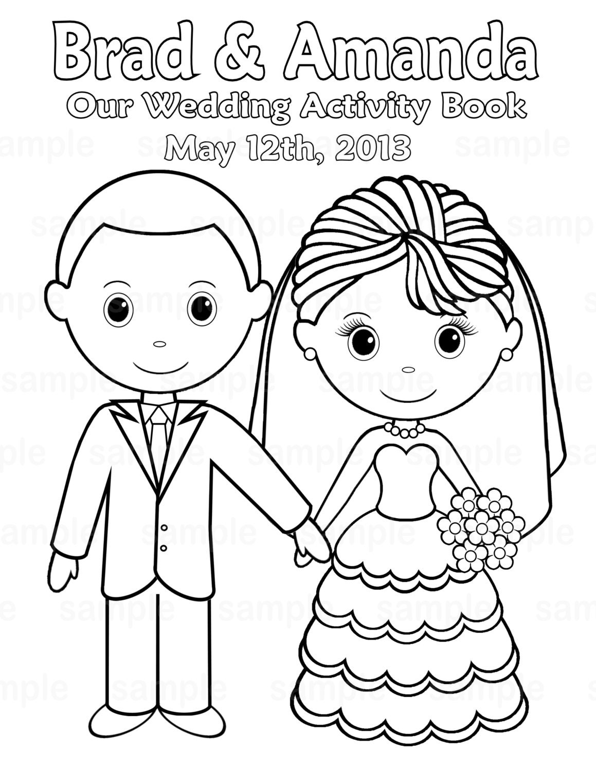 Wedding Activity Book Coloring Pages Coloring Pages