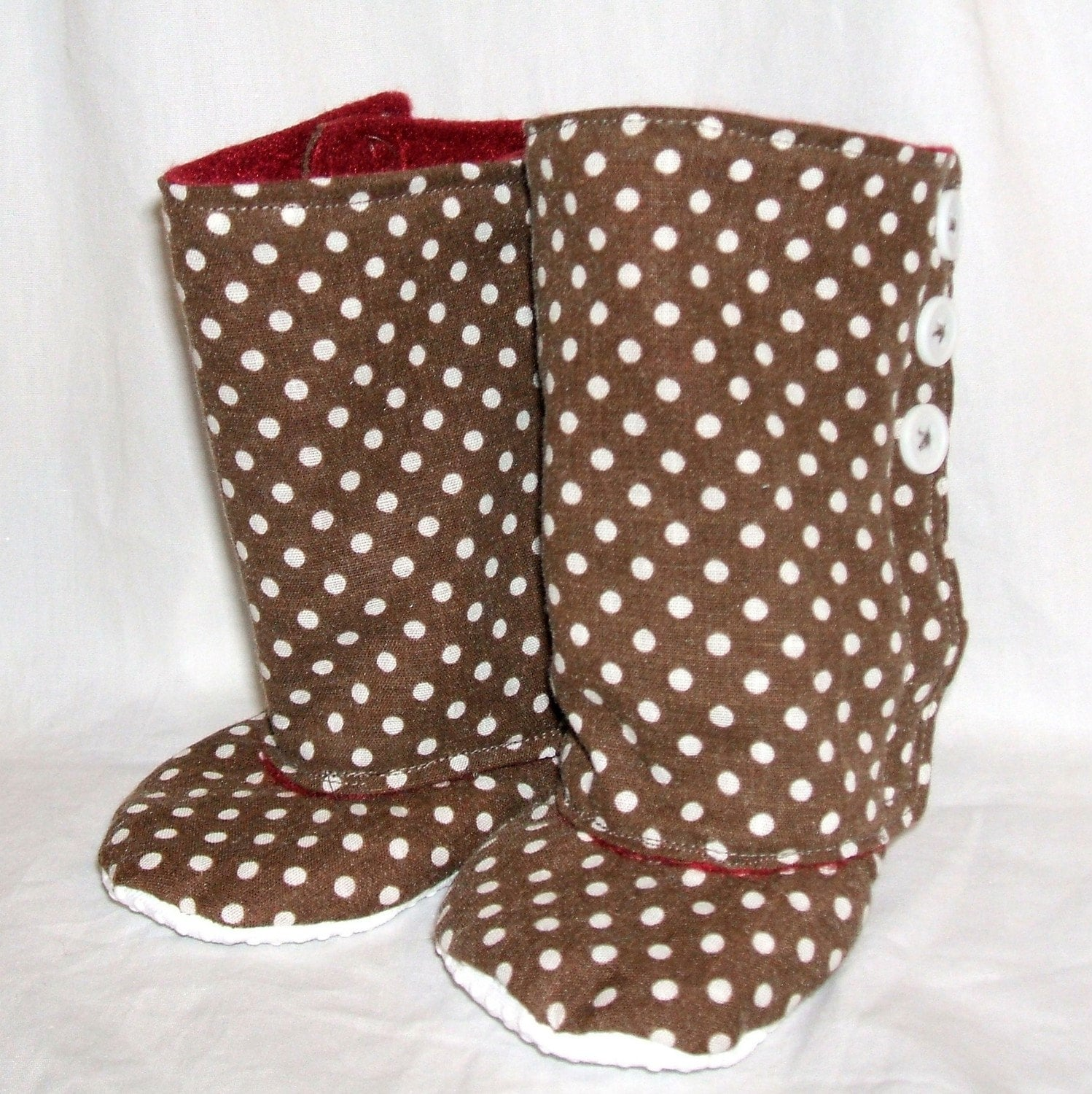 SALE- 3 Button Boots PDF Pattern & Tutorial in 4 Sizes