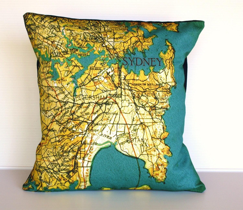 СИДНЕЙ-органический хлопок, мягкая обивка, карта подушки, подушки, 16 дюйма