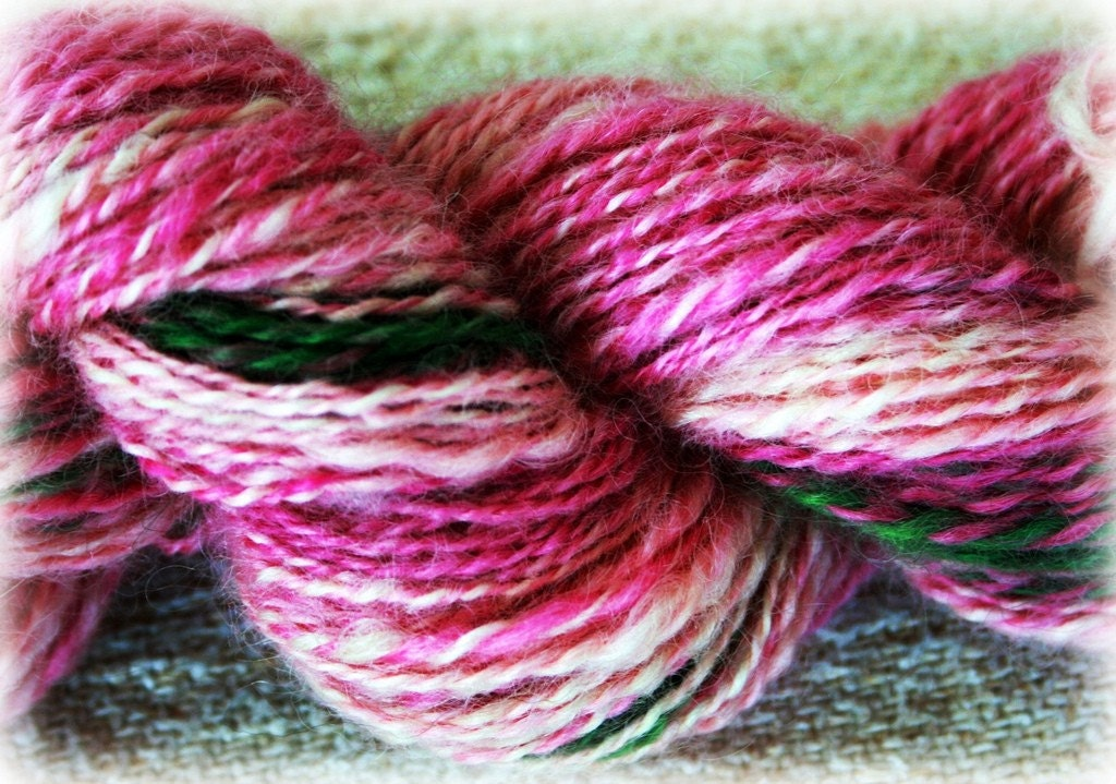 Enchanted Handspun Rasberry Trifle
