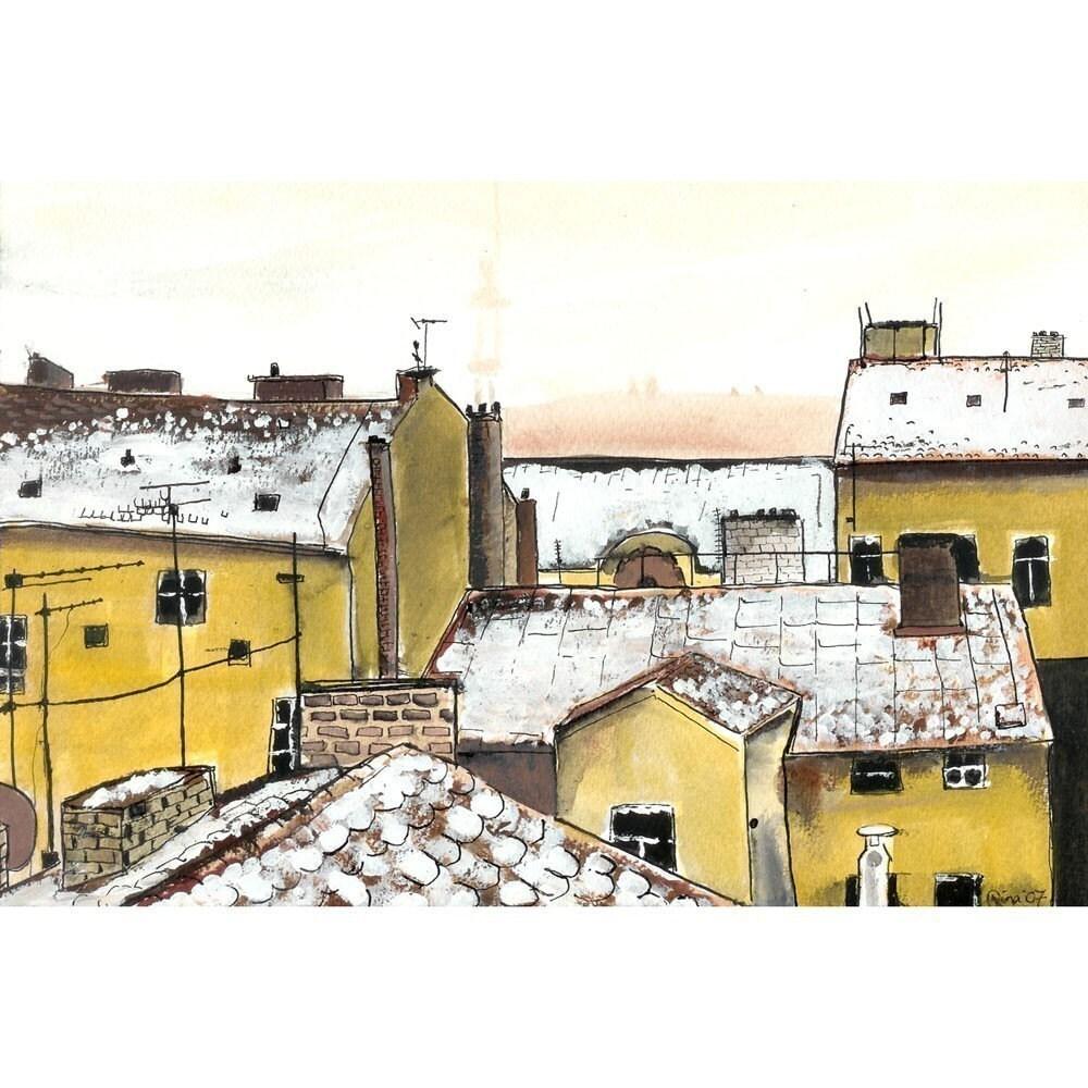 Rooftops in Prague - 4 x 6