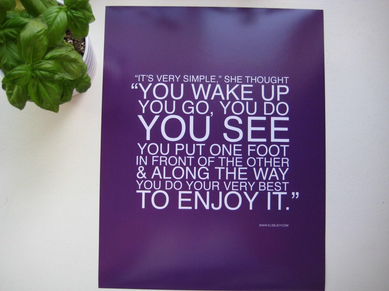 enjoy it poster print // purple