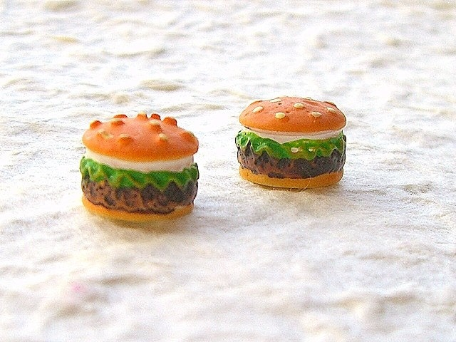 Cute Japanese Embellishments - Miniature Hamburgers