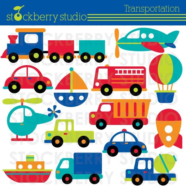 Here is a new transportation clipart set i just completed today and