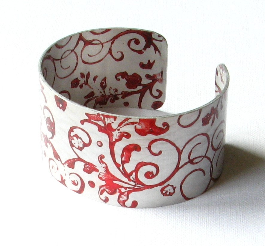 hand painted anodised cuff