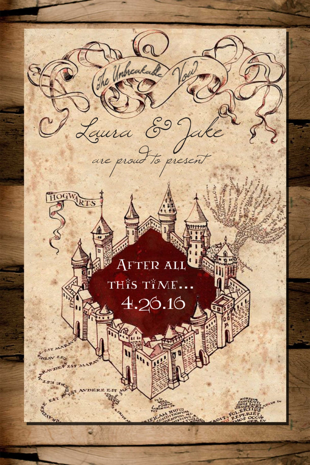 Harry Potter Marauders Map Save The Date Digital