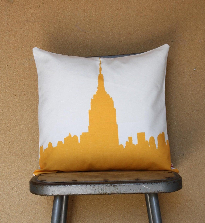 Городские Throw Подушка - Стиль № 7 - Нью-Йорк - Чехол и Вставить