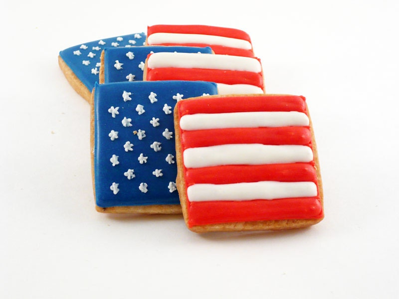 Decorated Cookies - Patriotic - Fourth of July - Flag Day - Memorial Day - katieduran