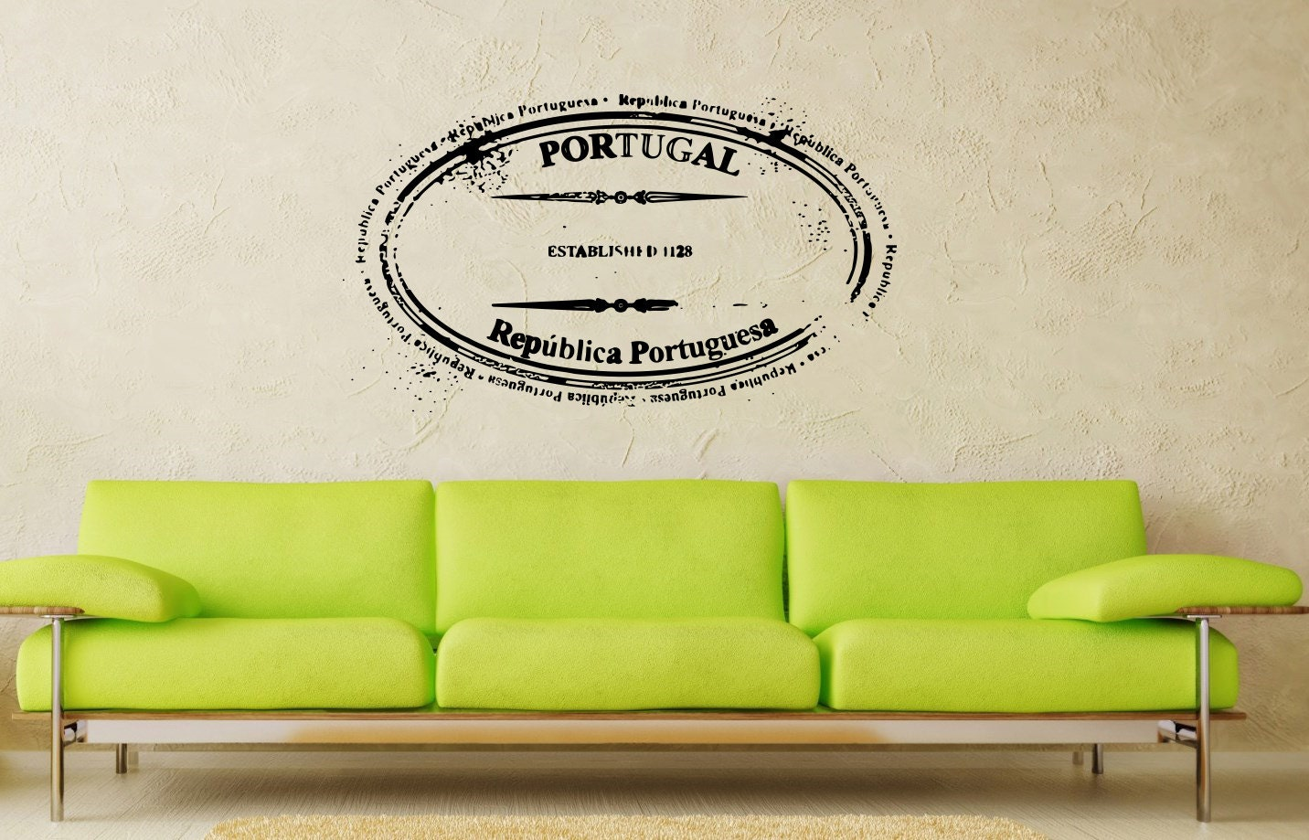 Housewares Wall Vinyl Decal Seal Stamp Portugal Art Design Murals Modern Interior Decor Stylish Sticker Removable Room Window SV2526 - SuperVinylDecal
