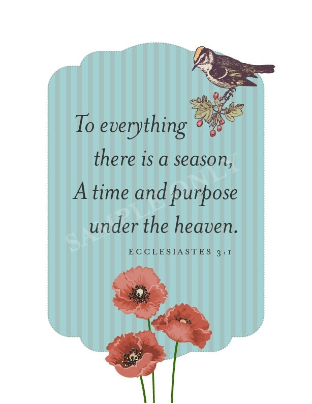 Ecclesiastes 3 - NIV Bible - There is a time for ...