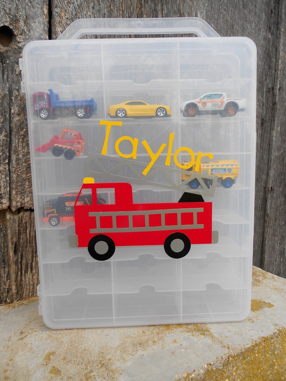 Toy Car Case : Personalized matchbox hotwheels toy car by