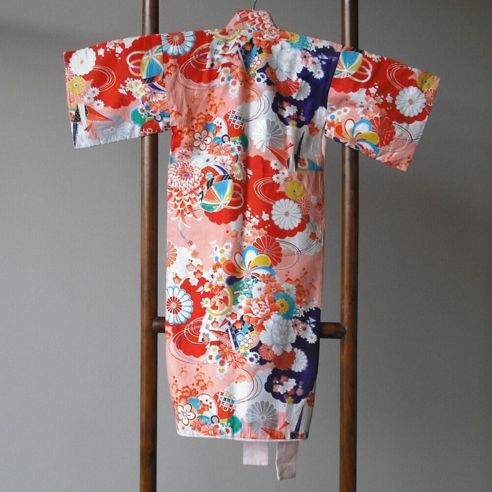 Vintage Childs Kimono with Haori Jacket