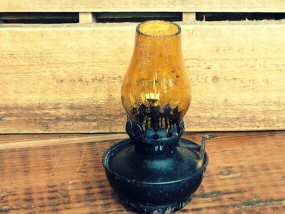 Vintage Rustic Black Lantern - RustbeltTreasures