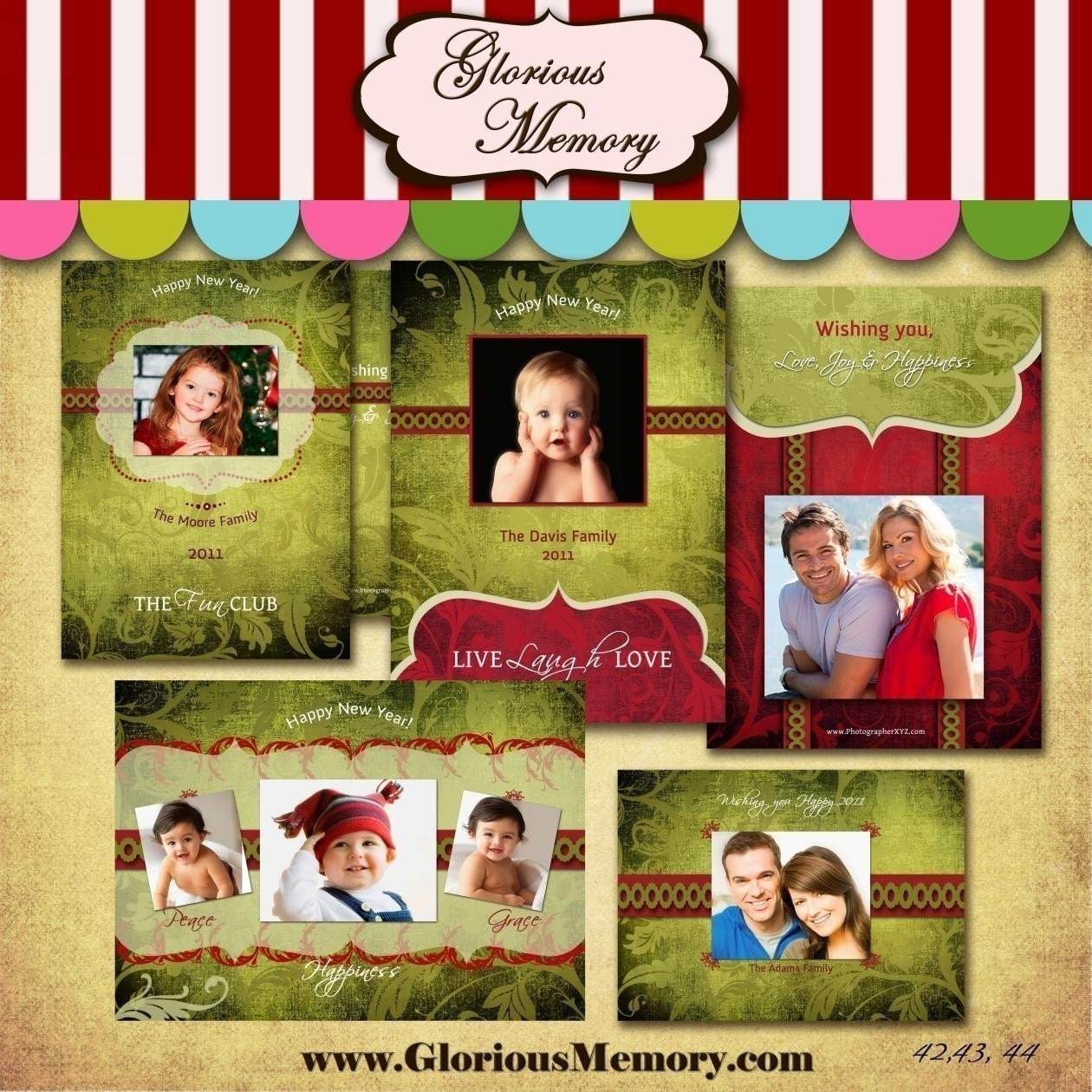 Christmas Card Template For Photoshop Christmas Card Templates