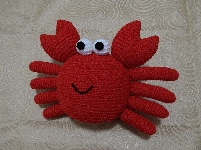 Crochet Amigurumi Crab : Amigurumi Crochet Pattern Crab Pattern No.12 by PawPawsStudio