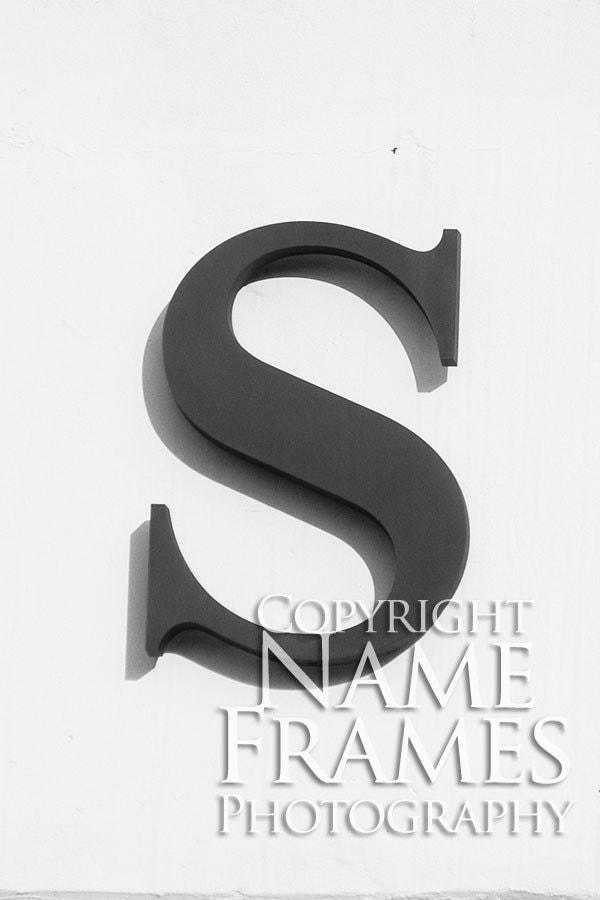 Letter S print - Version 3