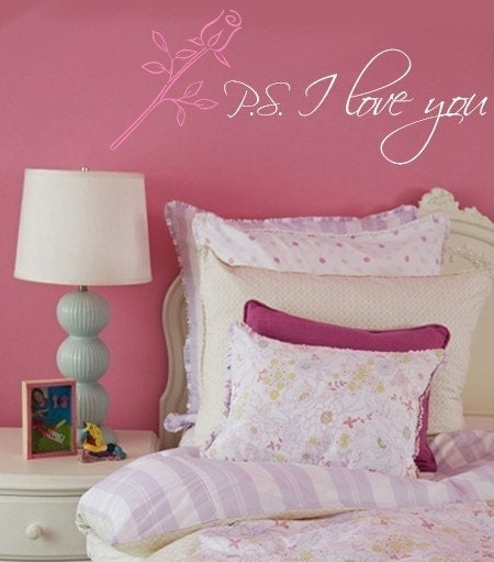 ps i love you quotes. PS I LOVE YOU Vinyl Wall Quote