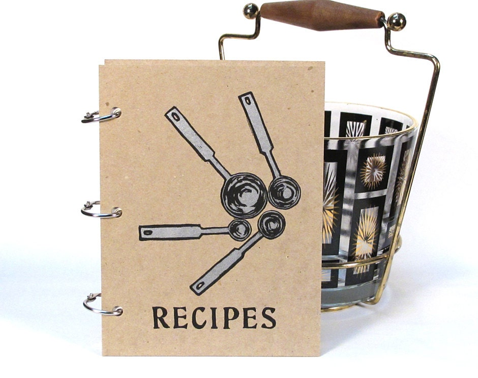 Blank Recipe Book - Measuring Spoons (5 in. x 7 in.) - Size No.2 - Silver ink - BethBee