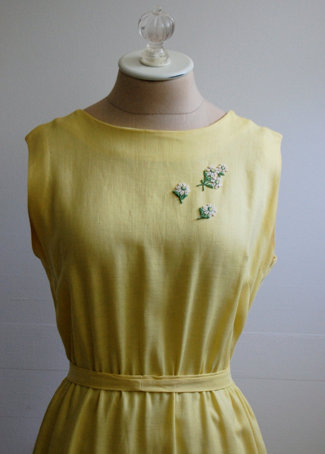 The Tahlia- Vintage early 1960s Golden Yellow Wiggle Dress