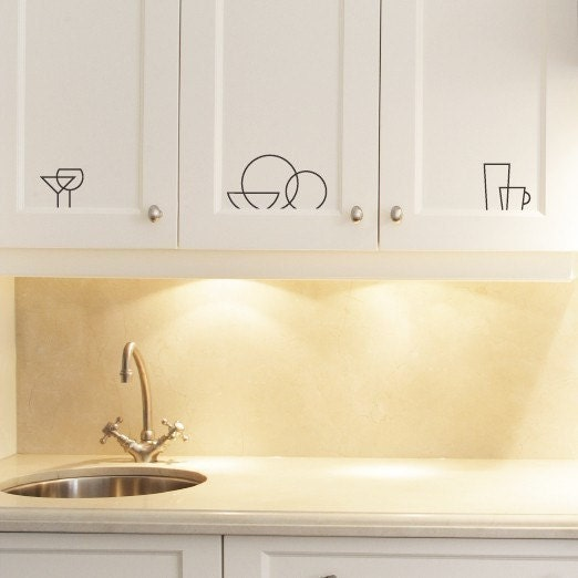 Kitchen Icon Labels - vinyl wall art decals graphic stickers