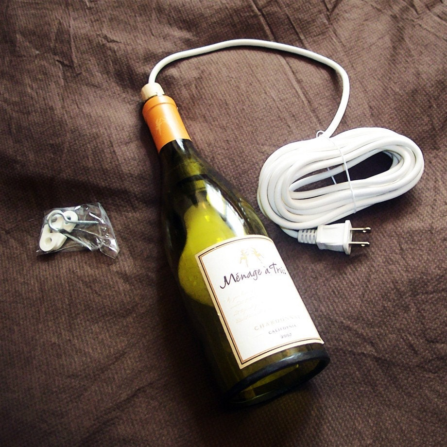 Items similar to wine bottle pendant light on etsy - Wine bottle pendant light ...