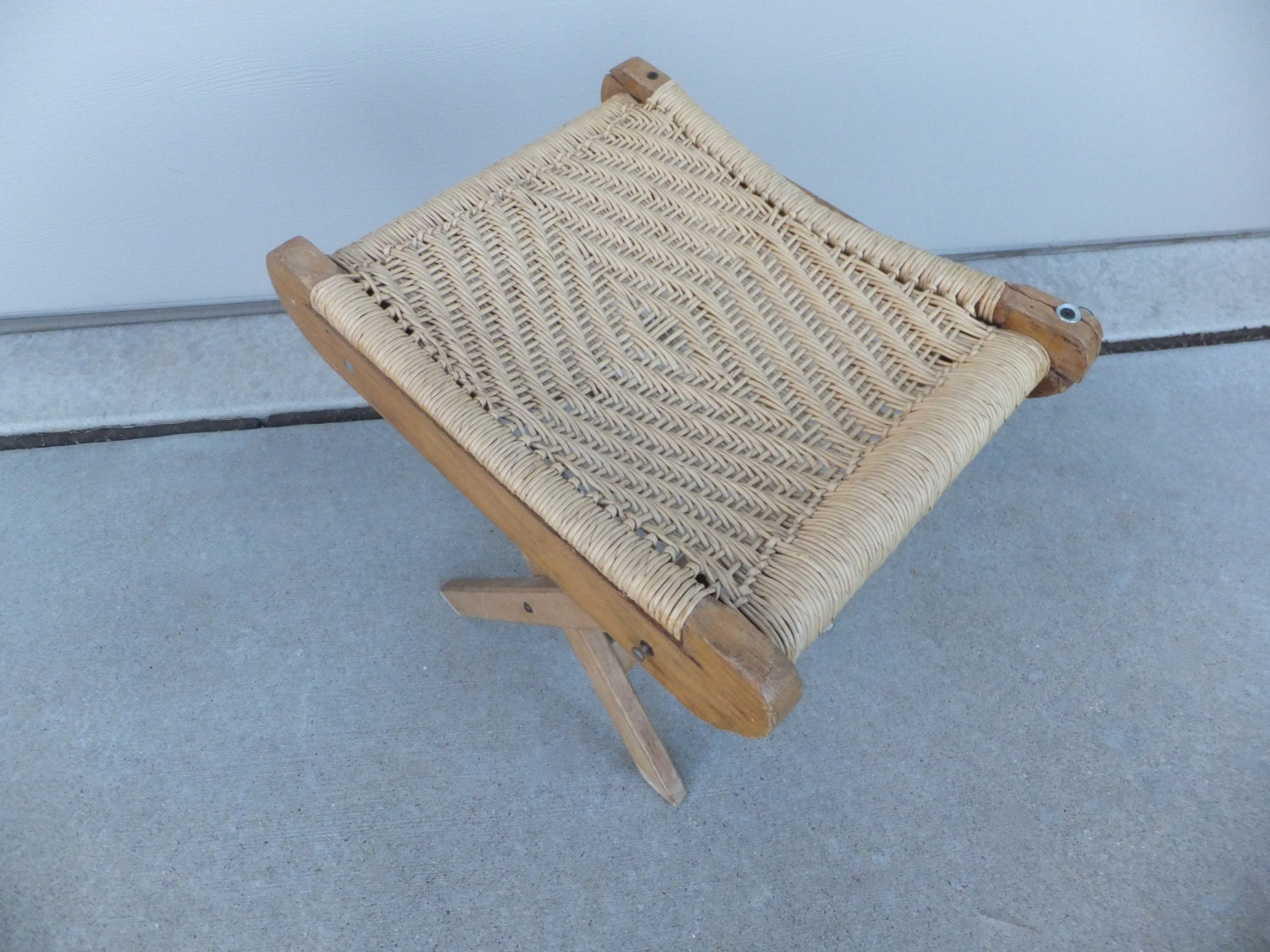 Vintage Primitive Wood Stool Footrest Footstool by  : il570xN5299610682whq from www.etsy.com size 570 x 428 jpeg 48kB