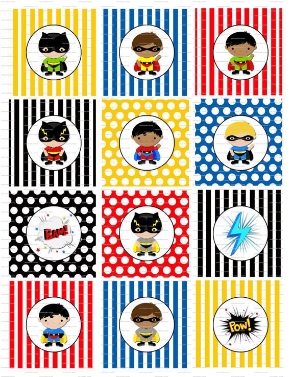 Shocking image with regard to superhero cupcake toppers printable
