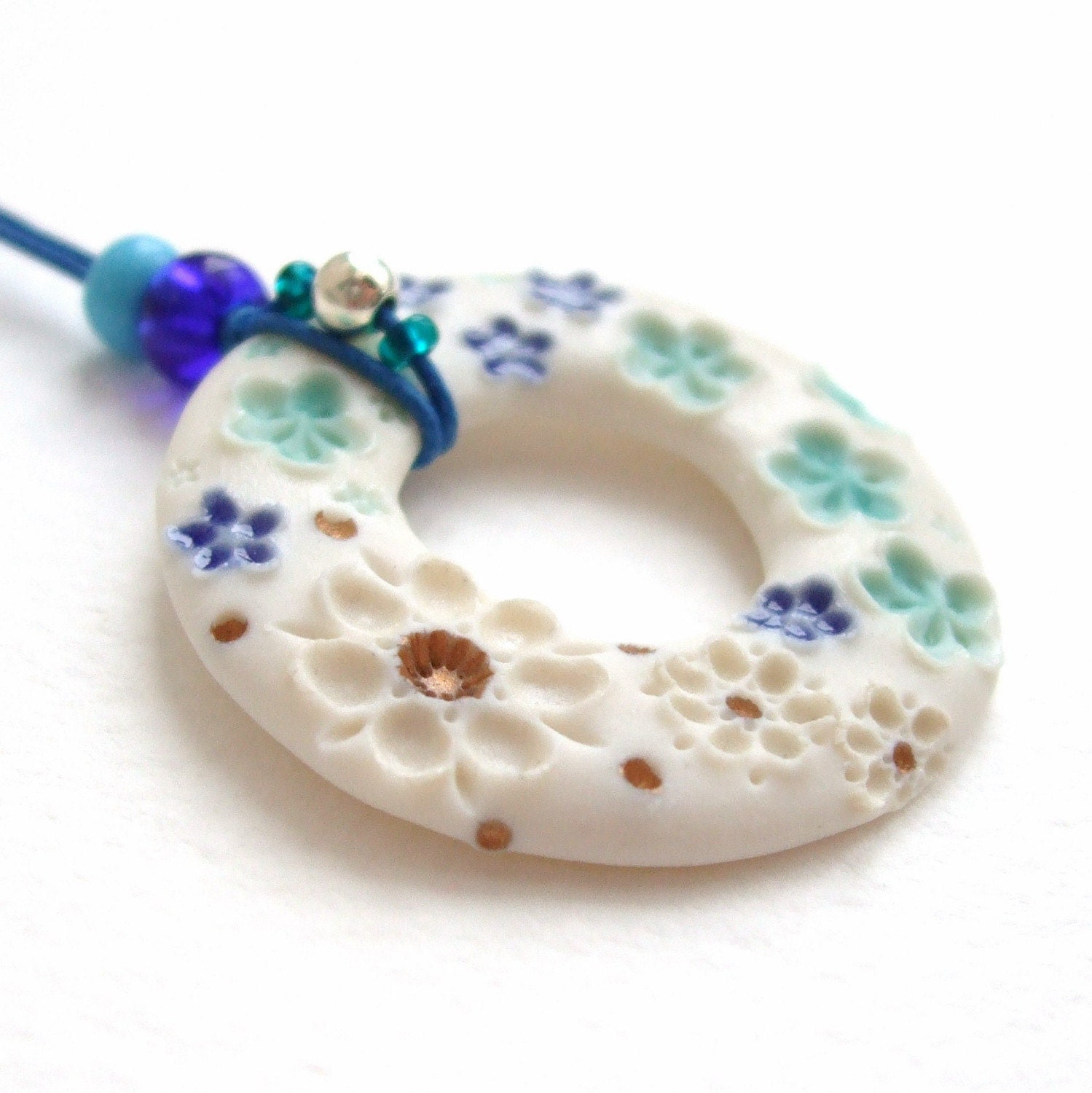 Porcelain Doughnut - Forget-me-not