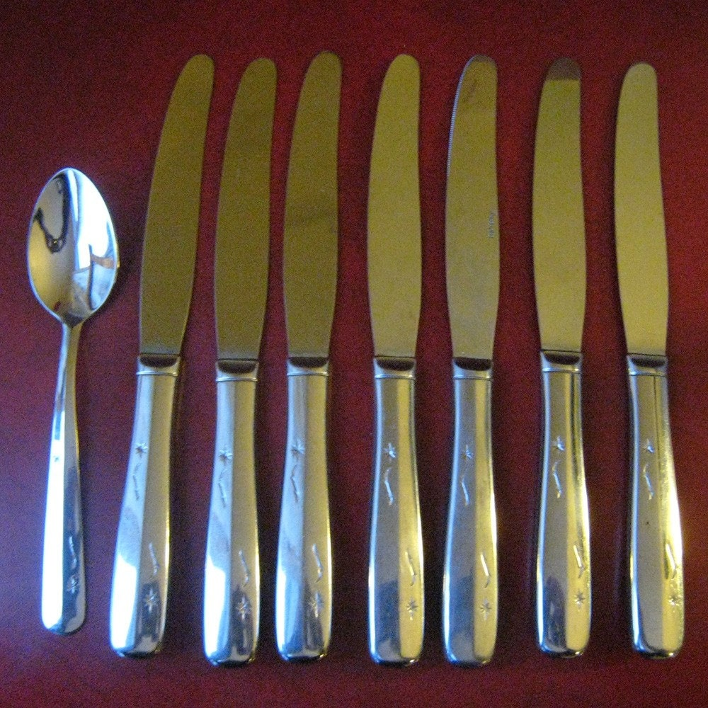 Retro STAR TIME Flatware Set 8 by Imperial USA by RetroReDesign