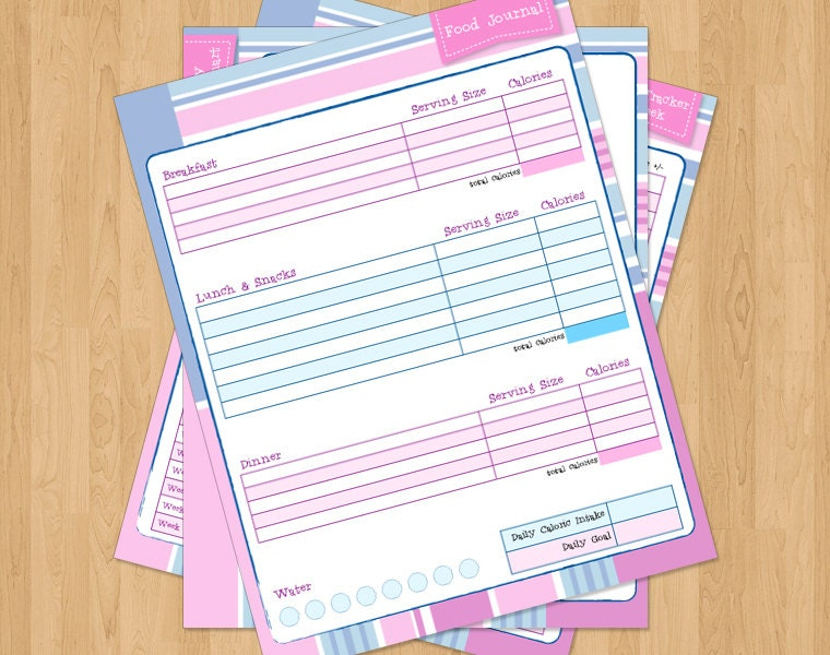 Beginner Weight Loss Journal in Pink 3 page by PrintablesByPhanie
