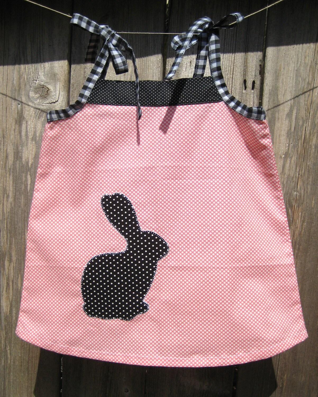 Summer Dress For Girls / Gingham Loves Polka / Black Rabbit