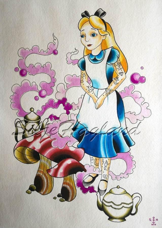 Alice in wonderland - print