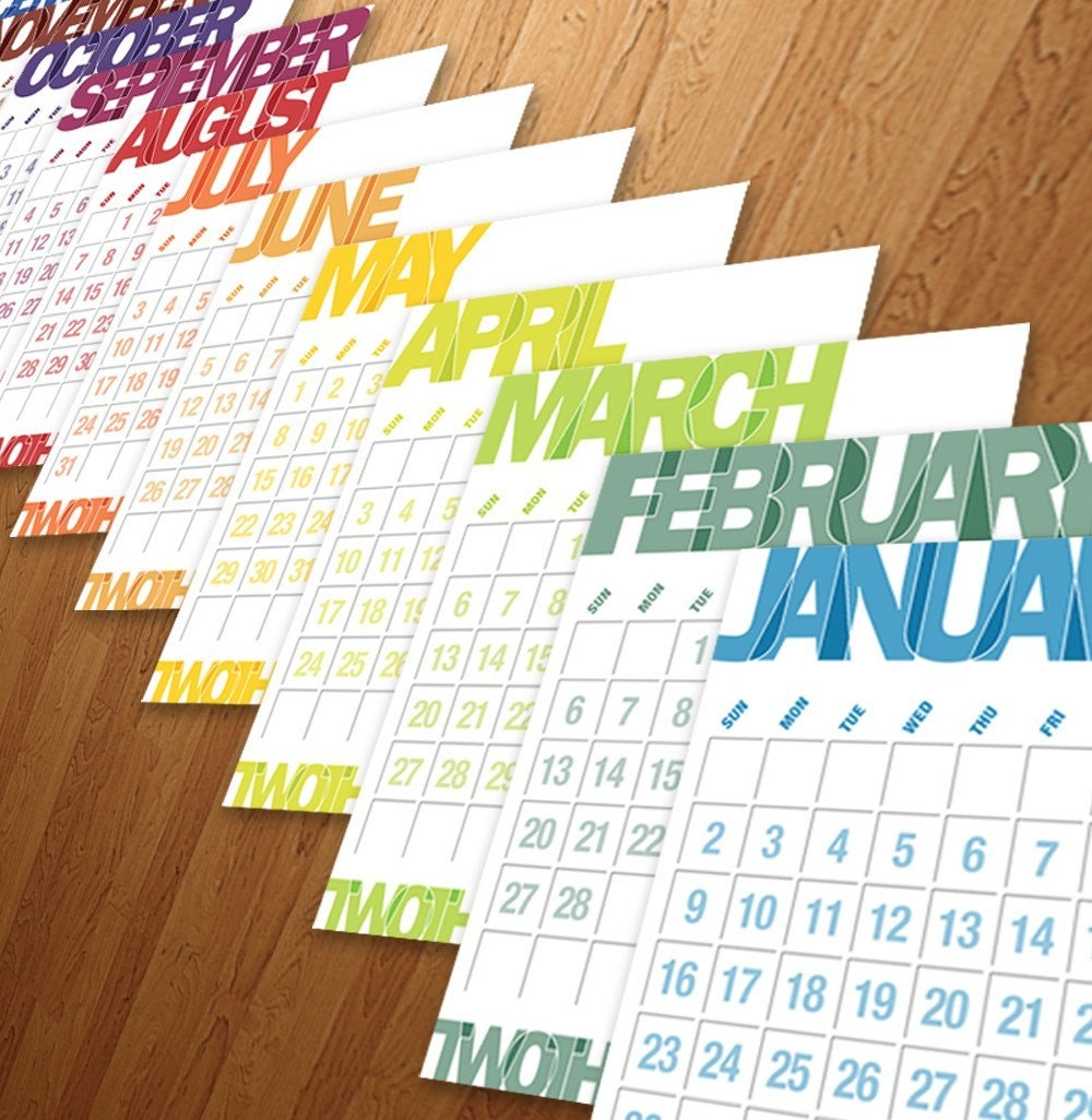 2011 Franklin Gothic Typography Calendar PREORDER by theRasilisk