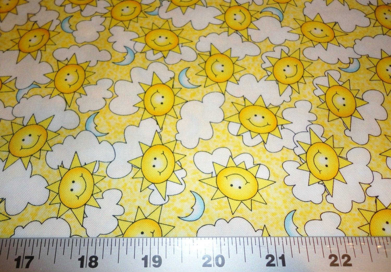 Avlyn fabrics happy little sun sunshine by for Sun and moon fleece fabric