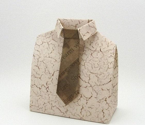 vvnvvn Origami Brown Tie Box